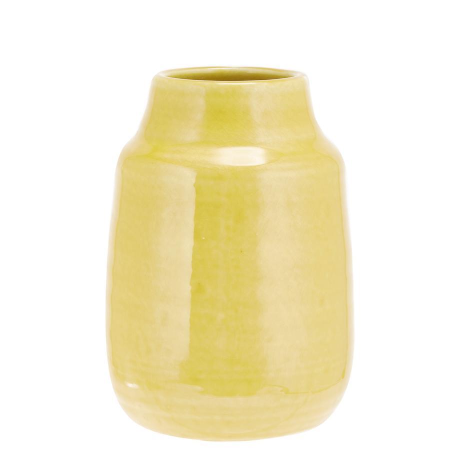 Vaso decorativo fatto a mano Julia, Terracotta, Giallo, Ø 15 x Alt. 21 cm