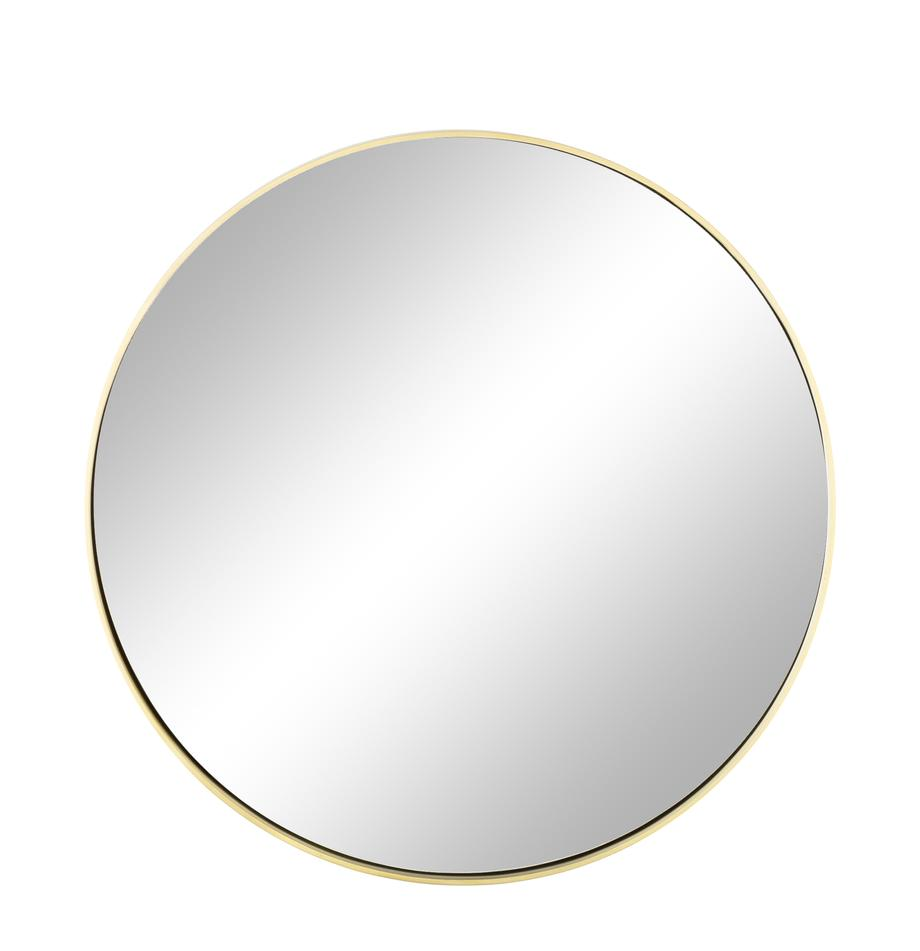 Espejo de pared redondo Ada, Espejo: cristal, Latón cepillado, Ø 60 cm