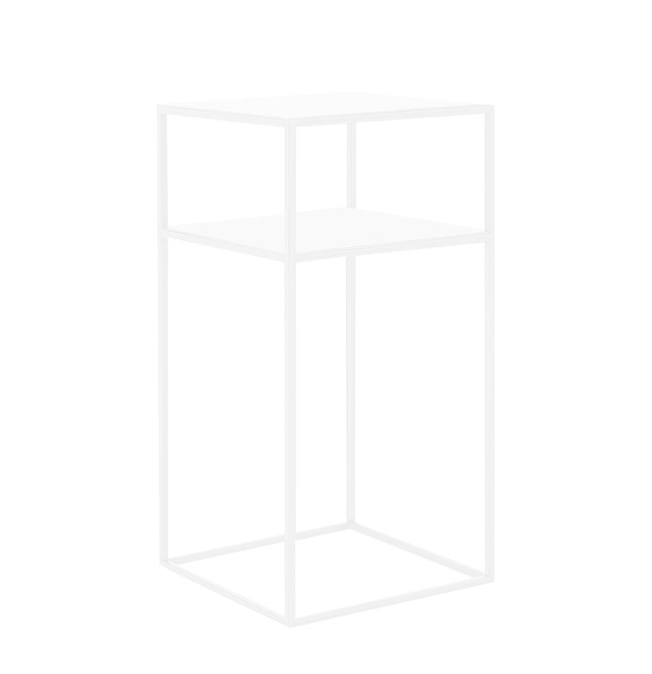 Metall-Beistelltisch Tensio in Weiß, Metall, pulverbeschichtet, Weiß, B 30 x T 30 cm