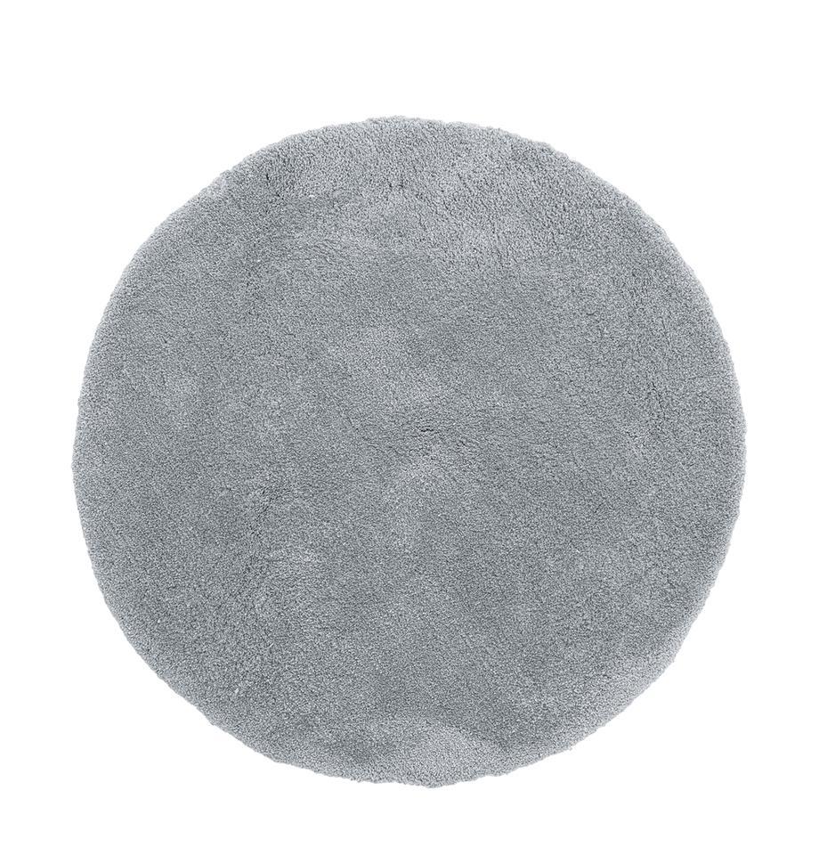 Okrągły puszysty dywan z wysokim stosem Leighton, Szary, Ø 120 cm (Rozmiar S)