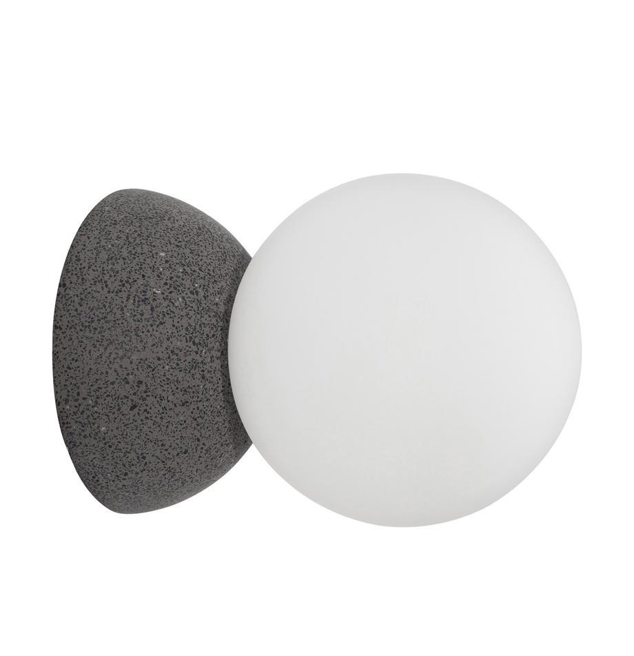 Wand- und Deckenleuchte Zero aus Opalglas, Lampenschirm: Opalglas, Grau, Weiß, Ø 10 x T 14 cm