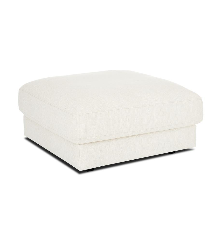 Sofa-Hocker Tribeca in Beige, Bezug: Polyester Der hochwertige, Gestell: Massives Kiefernholz, Webstoff Beige, 80 x 40 cm