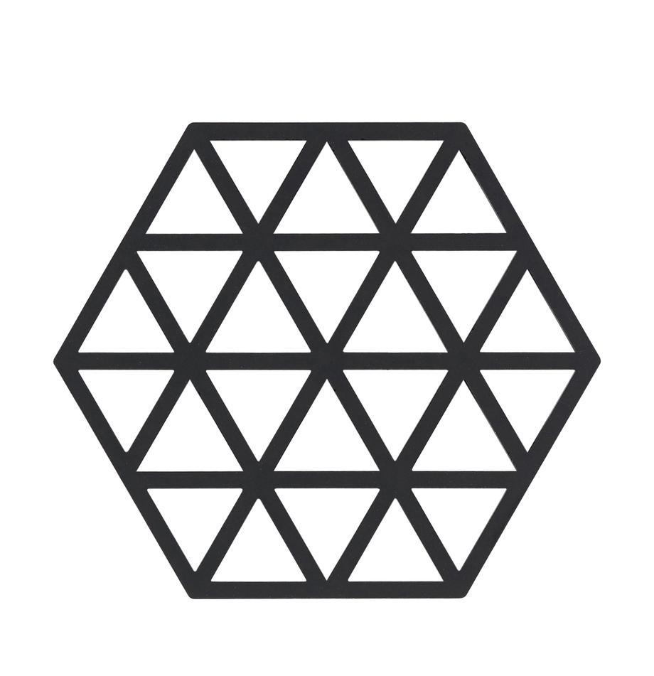 Sottopentola in silicone Triangle 2 pz, Silicone, Nero, Larg. 14 x Prof. 16 cm