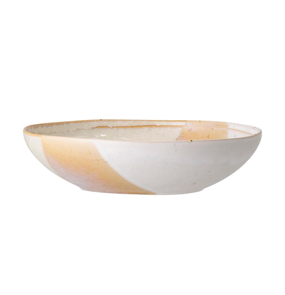 Plato hondo artesanal April, Gres, Tonos beige, Ø 23 x Al 6 cm