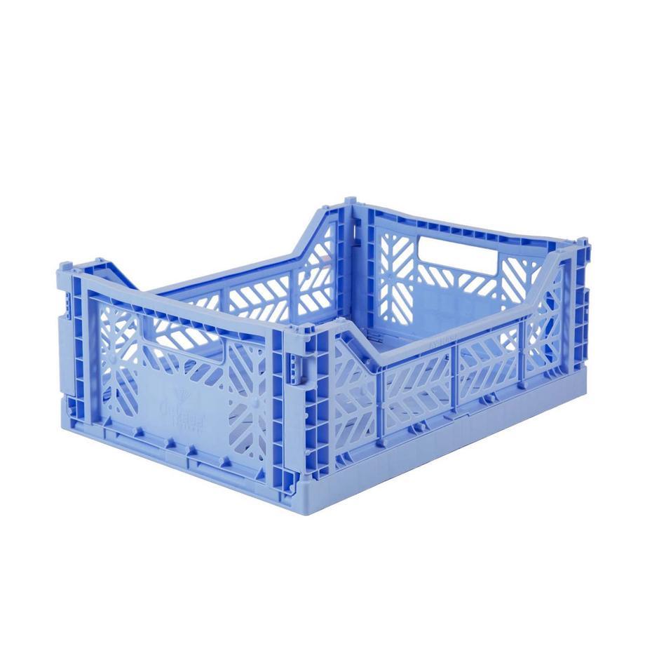 Kosz do przechowywania Baby, składany, średni, Tworzywo sztuczne z recyklingu, Jasny niebieski, S 40 x W 14 cm