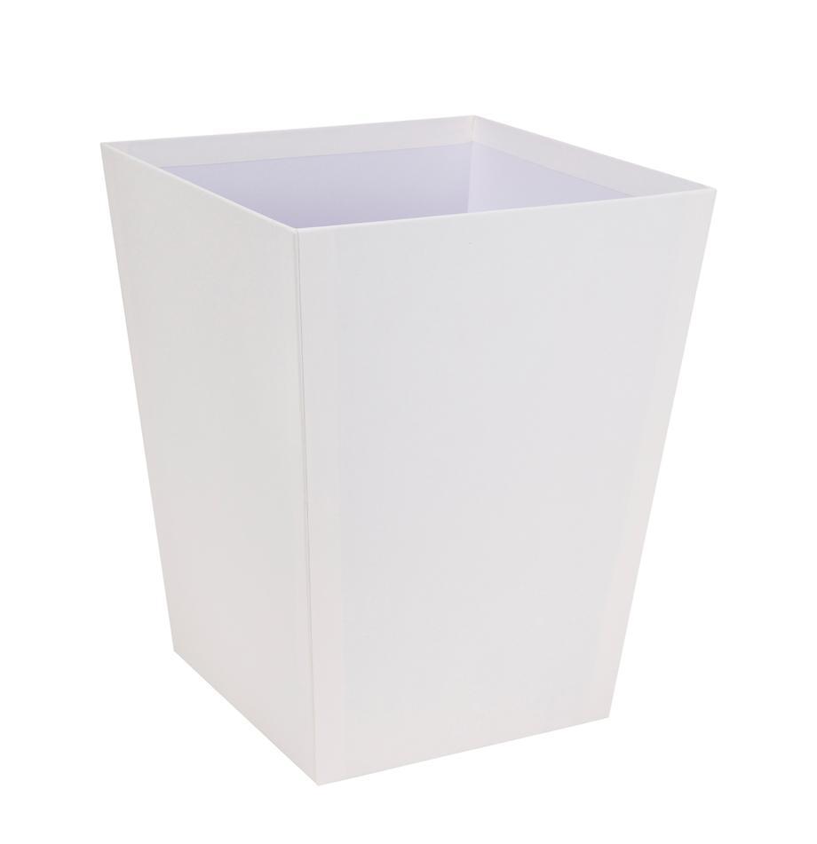 Papierkorb Sofia, Fester, laminierter Karton, Weiss, 26 x 33 cm