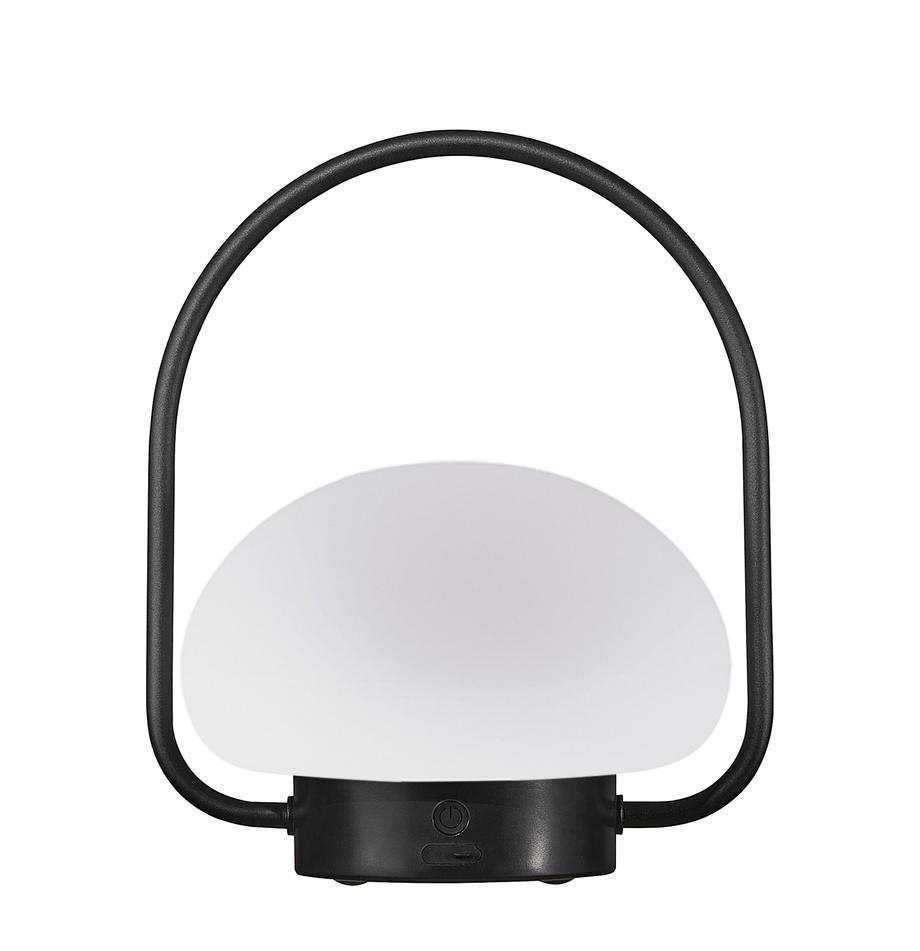 Lámpara de mesa para exterior regulable Sponge, portátil, Pantalla: plástico, Estructura: plástico, Blanco, negro, Ø 23 x Al 28 cm