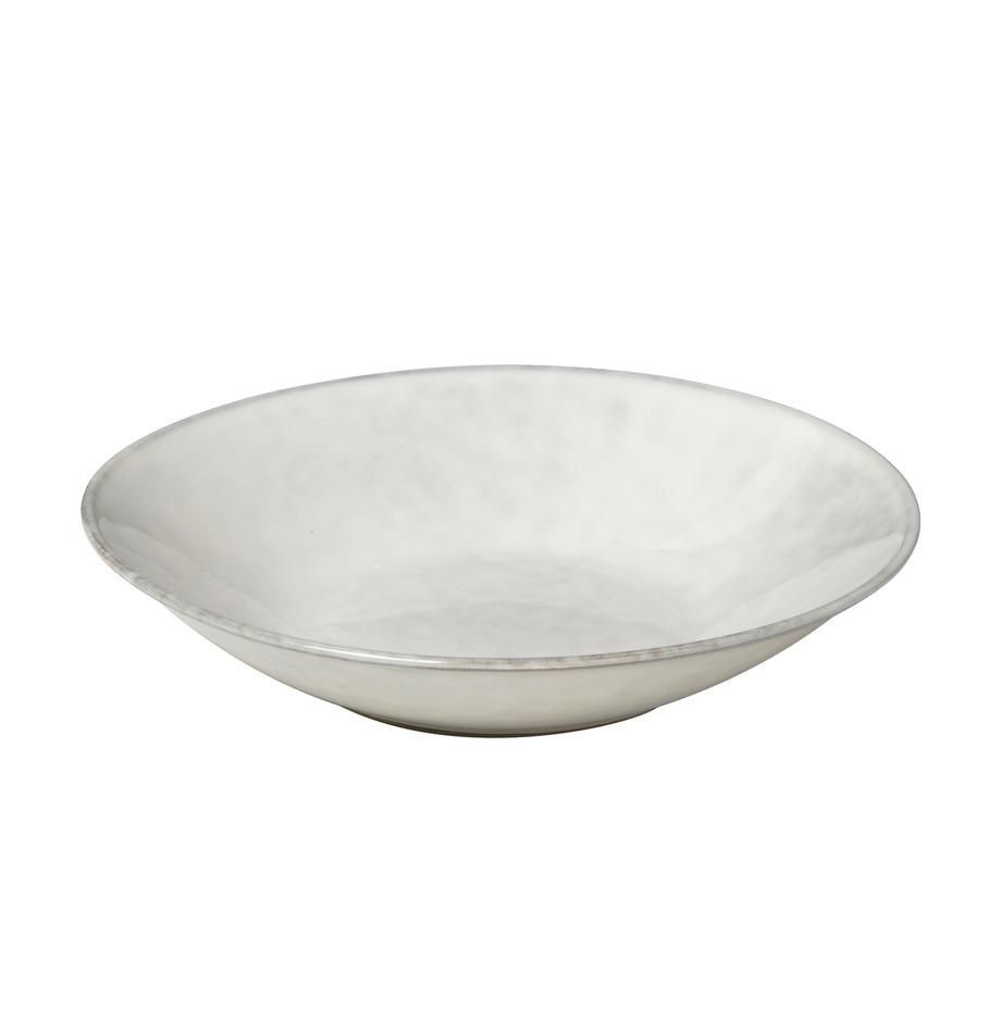 Handgemachte Suppenteller Nordic Sand Ø 22 cm aus Steingut, 4 Stück, Steingut, Sand, Ø 22 x H 5 cm