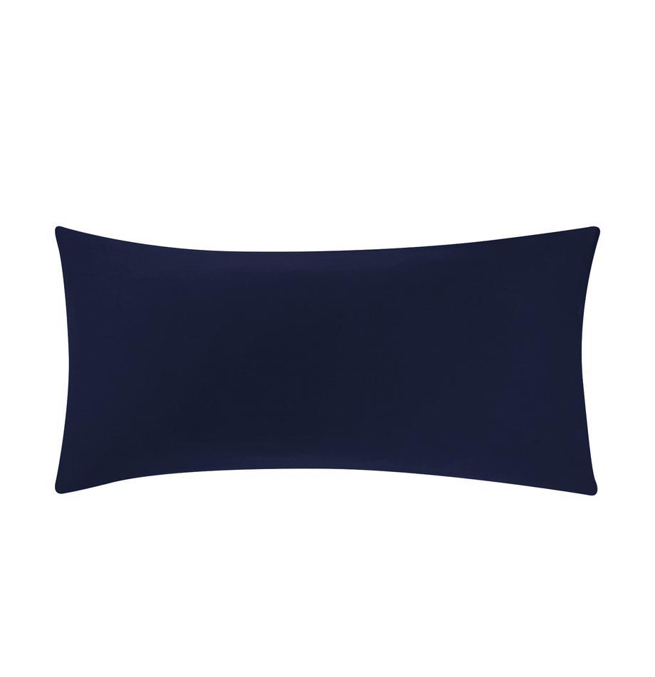 Baumwollsatin-Kissenbezüge Comfort in Dunkelblau, 2 Stück, Webart: Satin Fadendichte 250 TC,, Dunkelblau, 40 x 80 cm