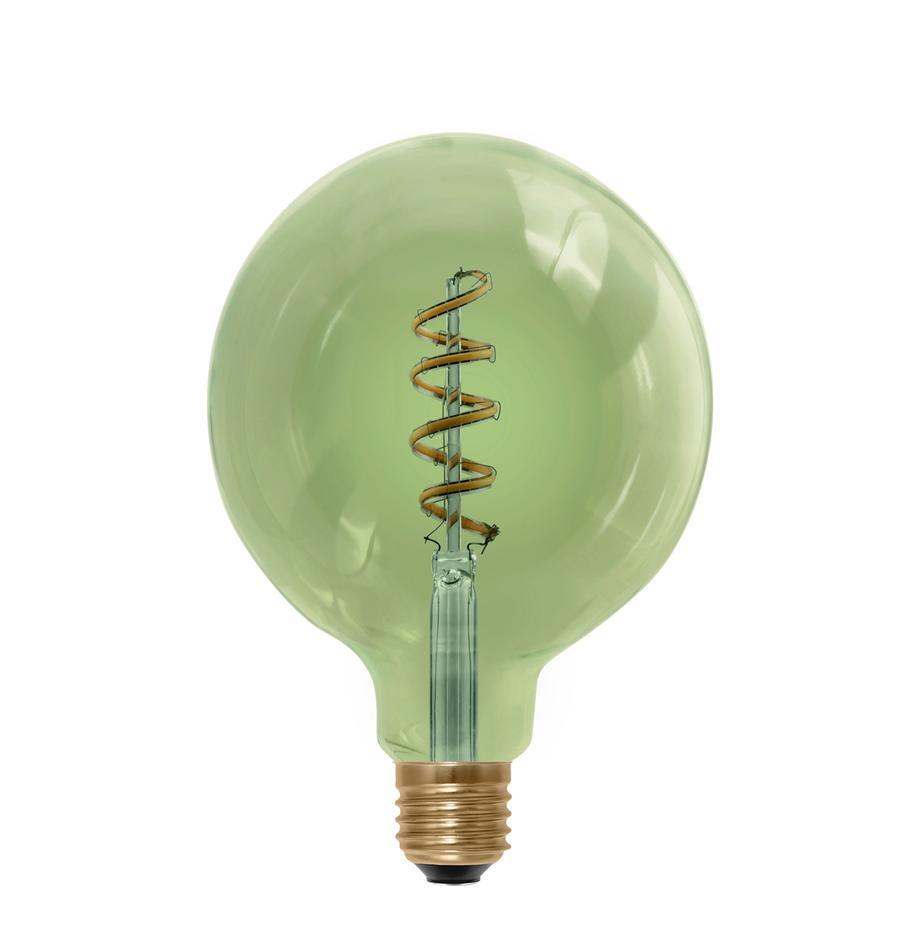E27 XL-Leuchtmittel, 8W, warmweiss, 1 Stück, Leuchtmittelschirm: Glas, Leuchtmittelfassung: Aluminium, Grün, Ø 13 x H 18 cm