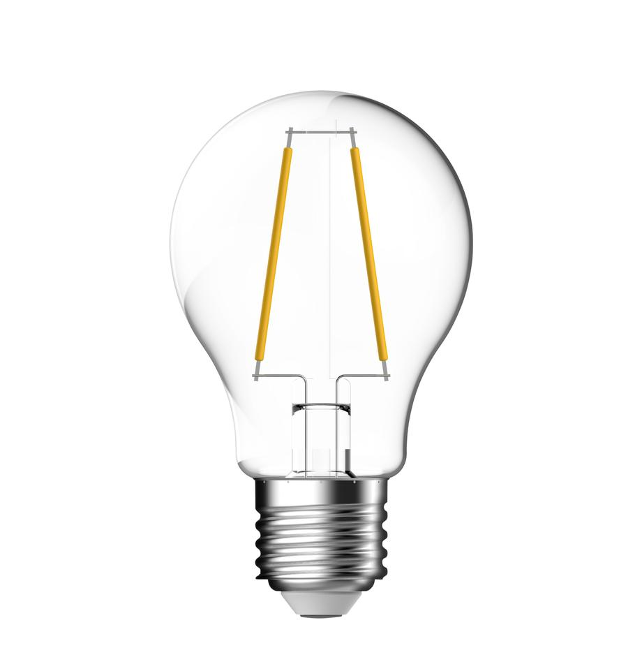 E27 peertje, 4.6 watt, warmwit, 1 stuk, Peertje: glas, Fitting: aluminium, Transparant, Ø 6 x H 10 cm