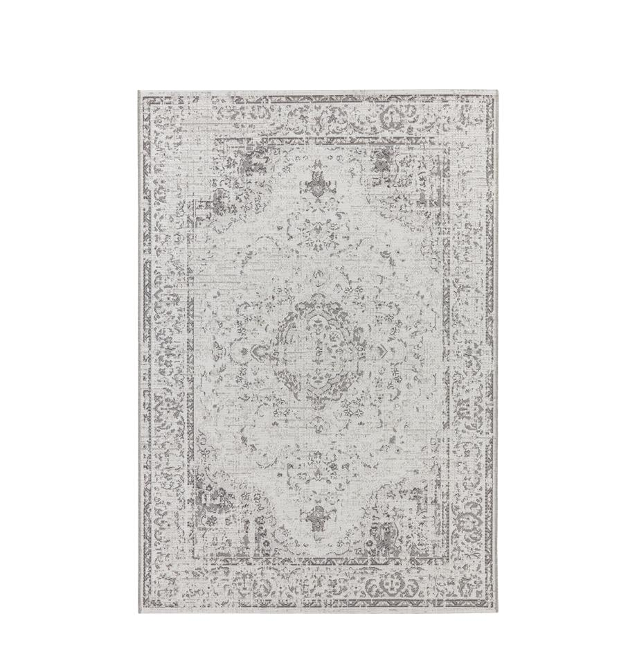 Alfombra de interior y exterior Cenon, 100%polipropileno, Crema, gris, An 80 x L 150 cm (Tamaño XS)
