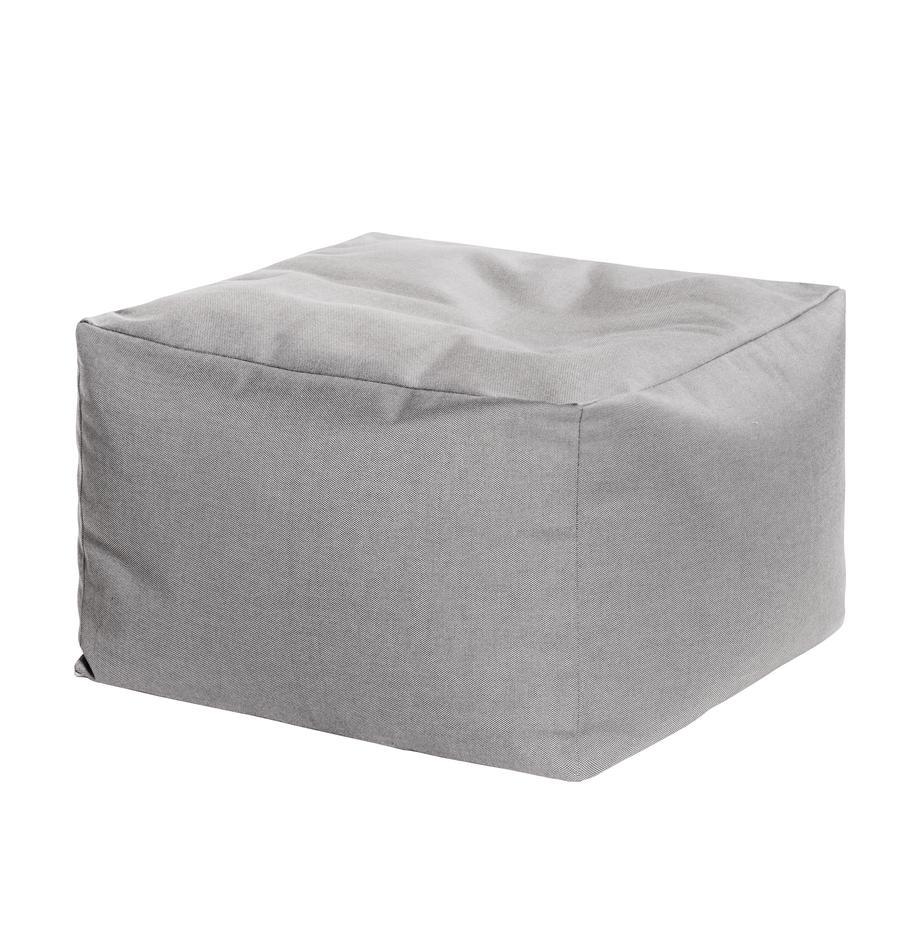 Puf de interior/exterior Loft, Tapizado: 100% poliacrílico, fibras, Gris, An 80 x F 80 cm