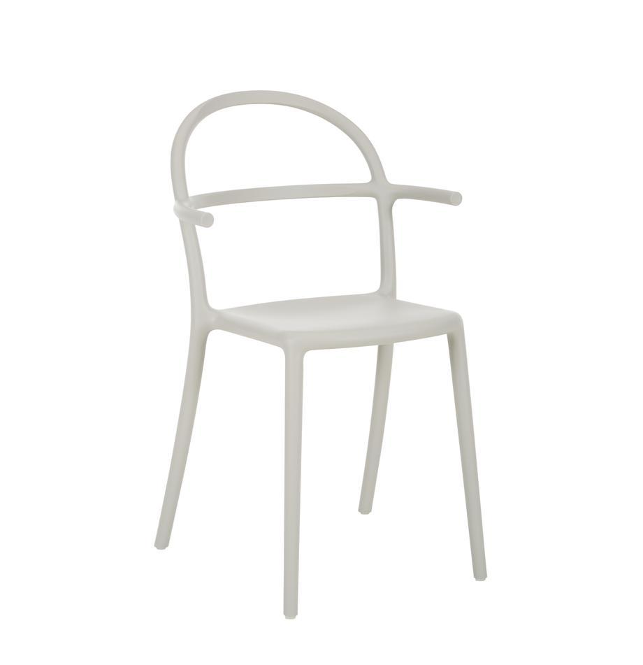 Sedia in plastica grigio chiaro Generic 2 pz, Polipropilene modificato, Grigio, Larg. 52 x Prof. 51 cm