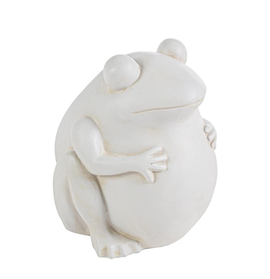 Pflanzentopf Frog, Kunststoff, Gebrochenes Weiss, 28 x 30 cm