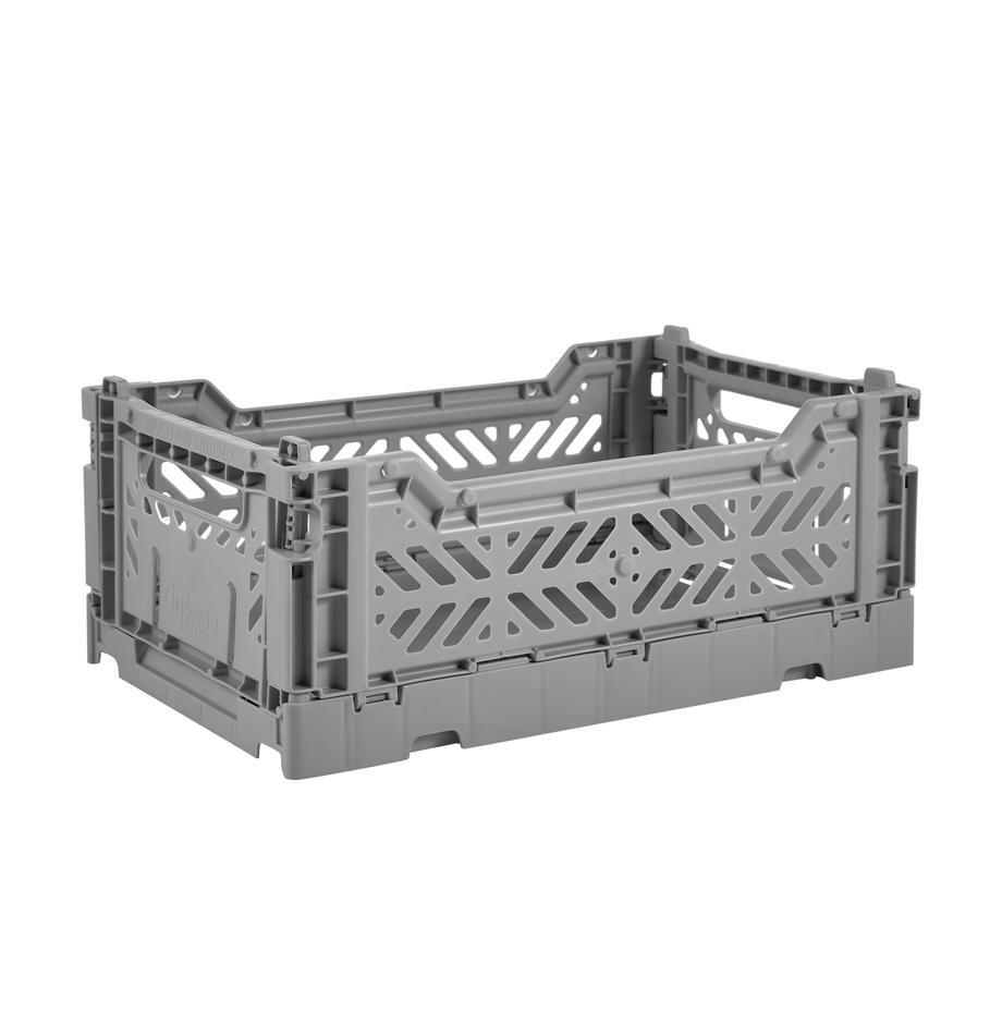 Kosz do przechowywania Grey, składany, mały, Tworzywo sztuczne z recyklingu, Szary, S 27 x W 11 cm