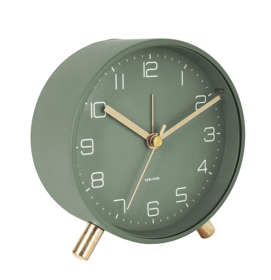 Despertador Lofty, Metal pintado, Verde, Ø 11 x P 5 cm