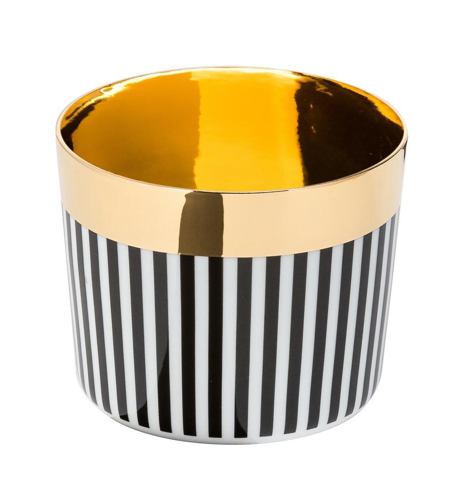 Champagnebeker Sip of Gold, Rand: verguld, Zwart, wit, goud, 300 ml