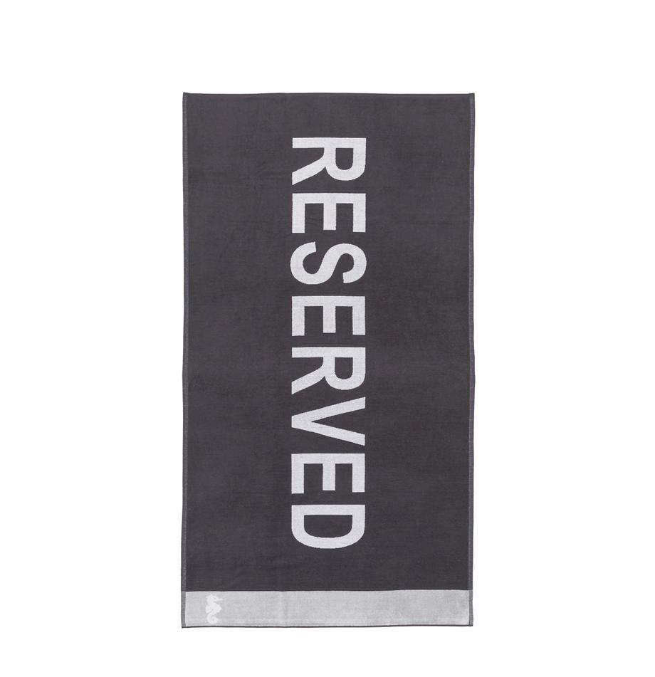 Telo mare Reserved, Retro: Terry (cotone) Media qual, Antracite, bianco, Larg. 100 x Lung. 180 cm