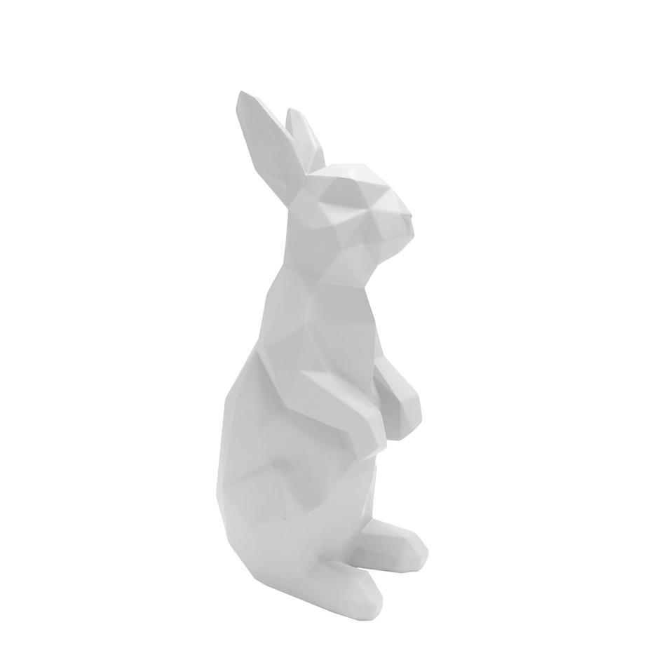Deko-Objekt Origami Bunny, Polyresin, Weiß, 25 x 13 cm