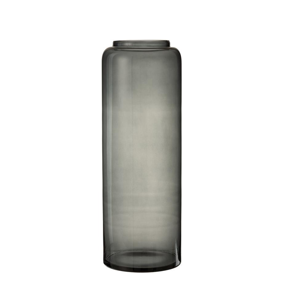 Wazon podłogowy ze szkła Right, Szklanka, Szary, Ø 25 x W 70 cm