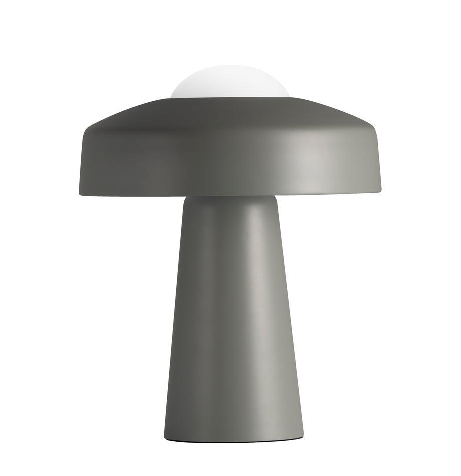 Design Tischlampe Time, Lampenschirm: Metall, beschichtet, Grau, Weiss, Ø 27 x H 34 cm