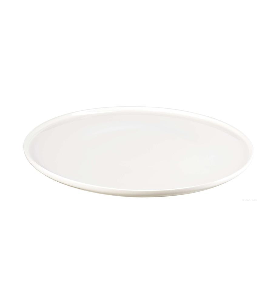 Plato llano de porcelana Oco, 6uds., Porcelana Fine Bone China (fina de hueso) Fine Bone China es una pasta de porcelana fosfática que se caracteriza por su brillo radiante y translúcido., Marfil, Ø 27 cm
