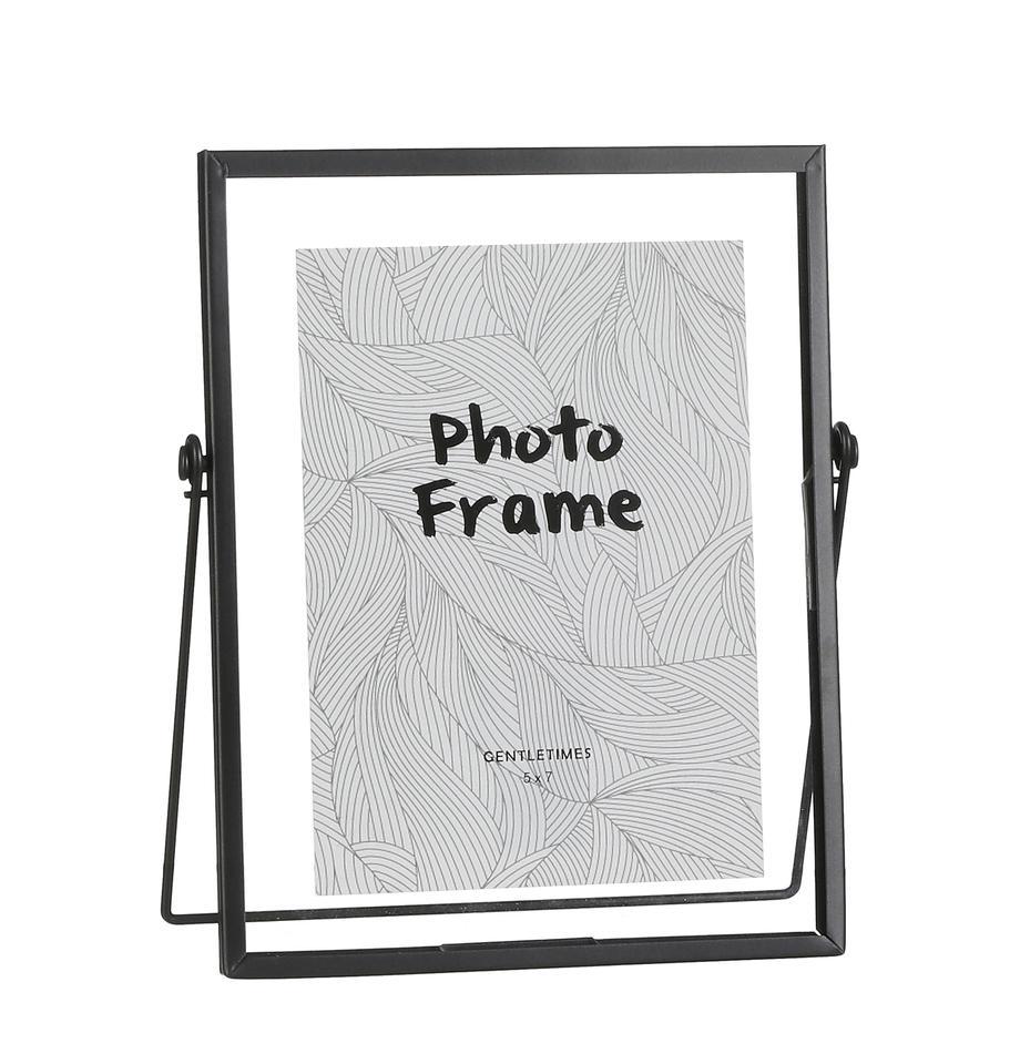 Fotolijstje Aimee, Lijst: metaal, Frame: zwart. Ruit: transparant, 13 x 18 cm