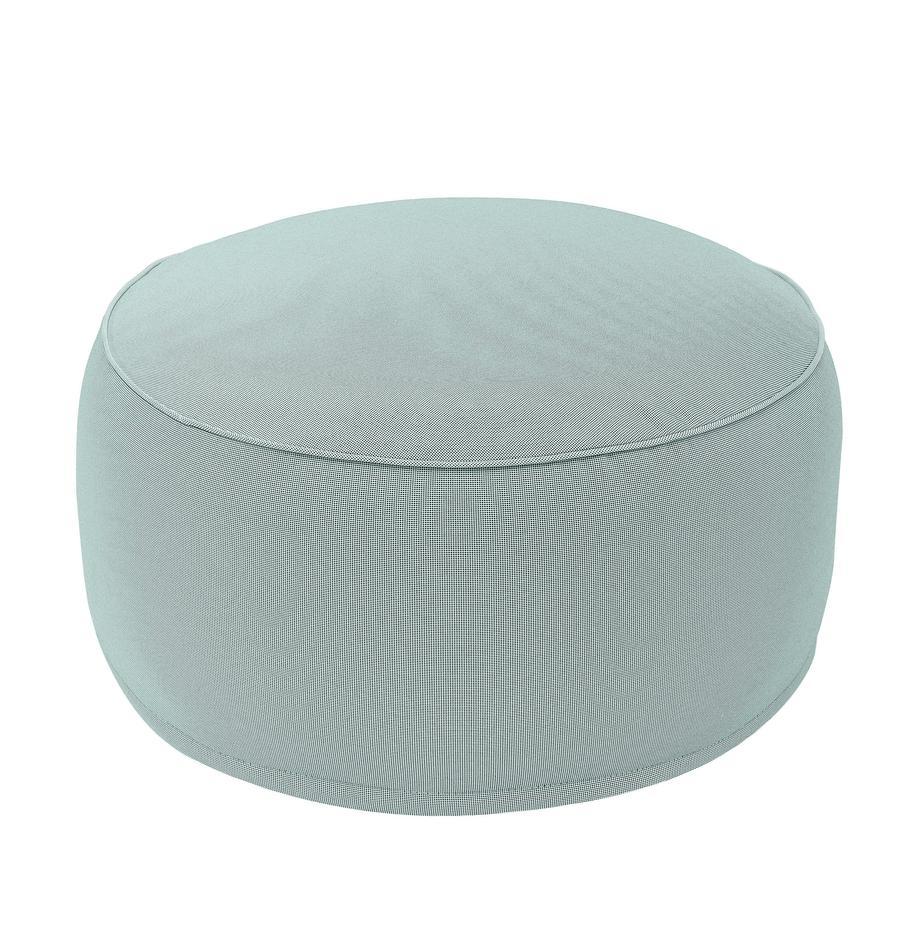 Aufblasbarer Pouf Maxime, Bezug: Polyester, UV-beständig, Mint, Schwarz, Ø 55 x H 25 cm