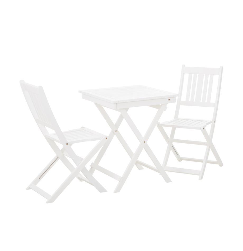 Muebles de jardín Skyler, 3pzas., Blanco, Set de diferentes tamaños