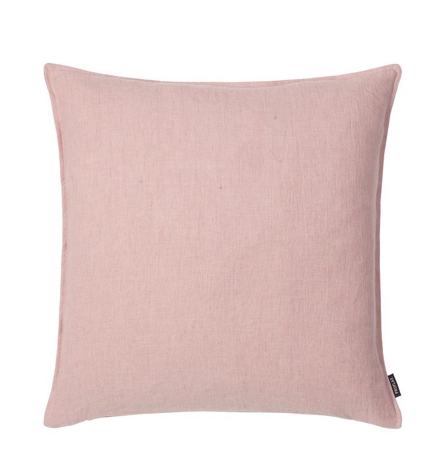 Federa arredo in lino rosa Sven, Lino, Rosa cipria, Larg. 40 x Lung. 40 cm