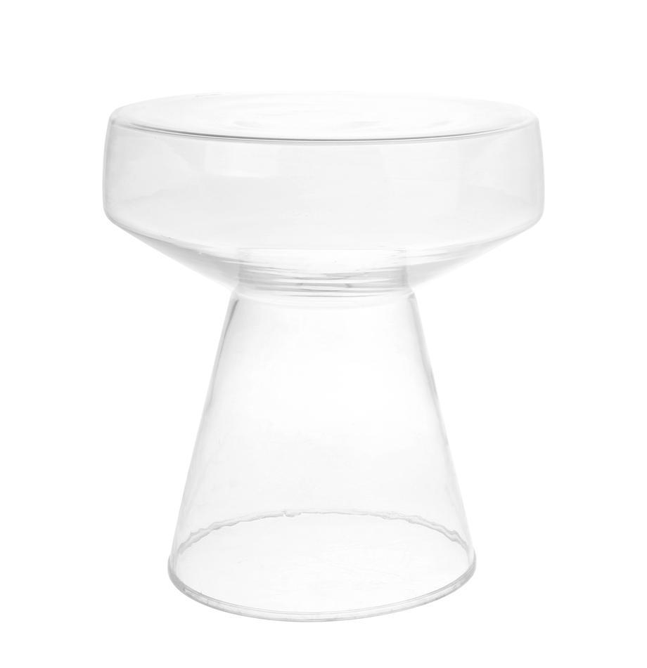 Beistelltisch Lars aus Glas, Sicherheitsglas, Transparent, Ø 39 x H 45 cm