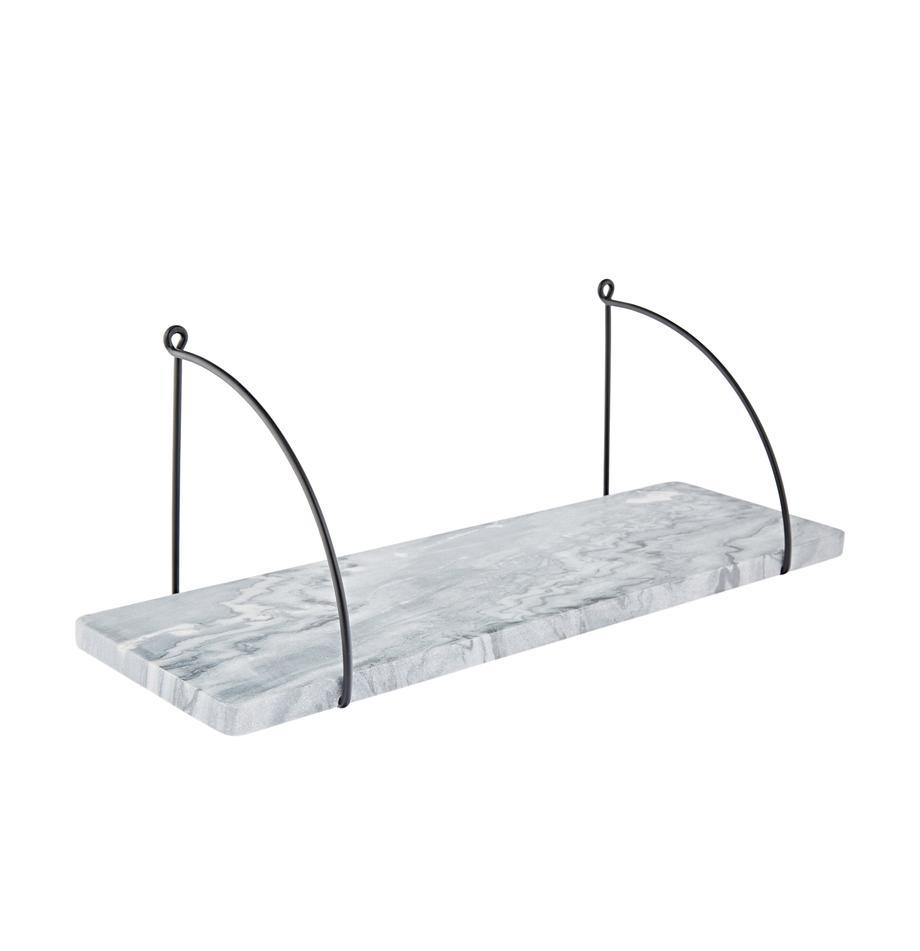 Estante de pared de mármol Porter, Estantería: mármol, Mármol gris, negro, An 60 x Al 24 cm