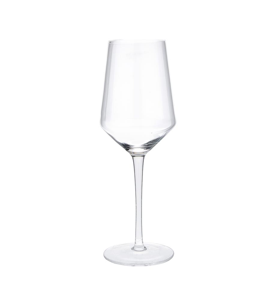 Mundgeblasene Weißweingläser Ays, 4 Stück, Glas, Transparent, Ø 6 x H 24 cm