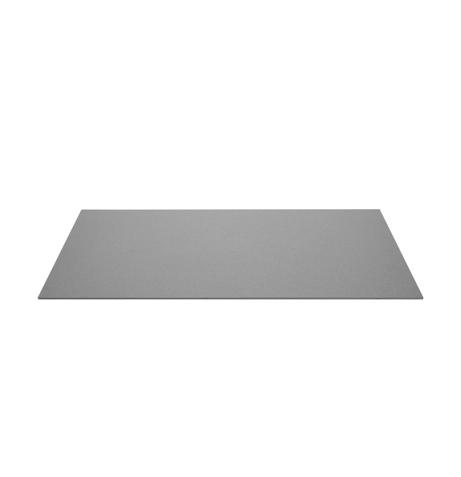 Tappetino da scrivania Annie, Solido, cartone laminato, Grigio, Larg. 59 x Prof. 39 cm