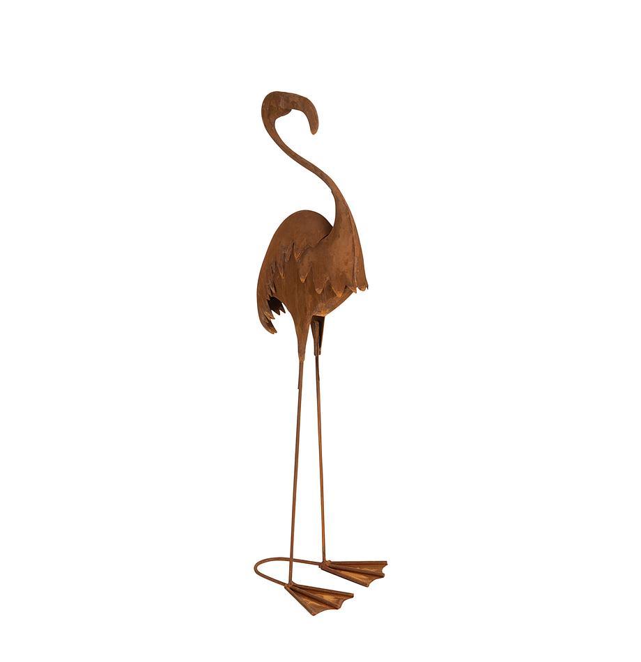 Deko-Objekt Flamingo, Metall, Rostbraun, 18 x 64 cm