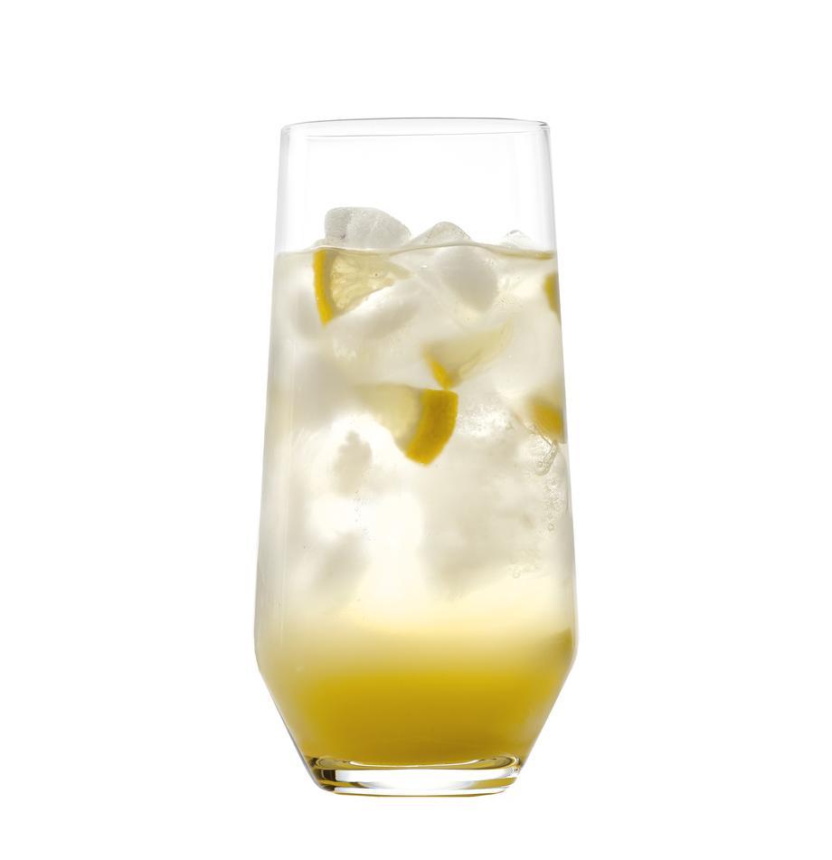 Kryształowa szklanka do wody Revolution, 6 szt., Szkło kryształowe, Transparentny, Ø 7 x W 14 cm