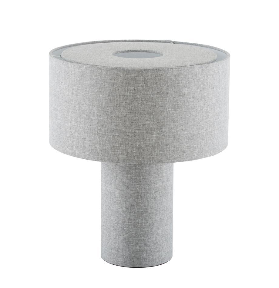 Kleine Tischlampe Ron aus Stoff, Lampenschirm: Textil, Lampenfuß: Kunststoff mit Textilbezu, Lampenschirm: BeigeLampenfuß:BeigeKabel: Schwarz, Ø 30 x H 35 cm