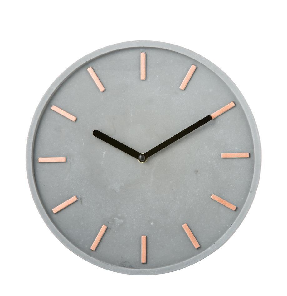 Reloj de pared Gela, Agujas: metal, Gris, Ø 28 cm