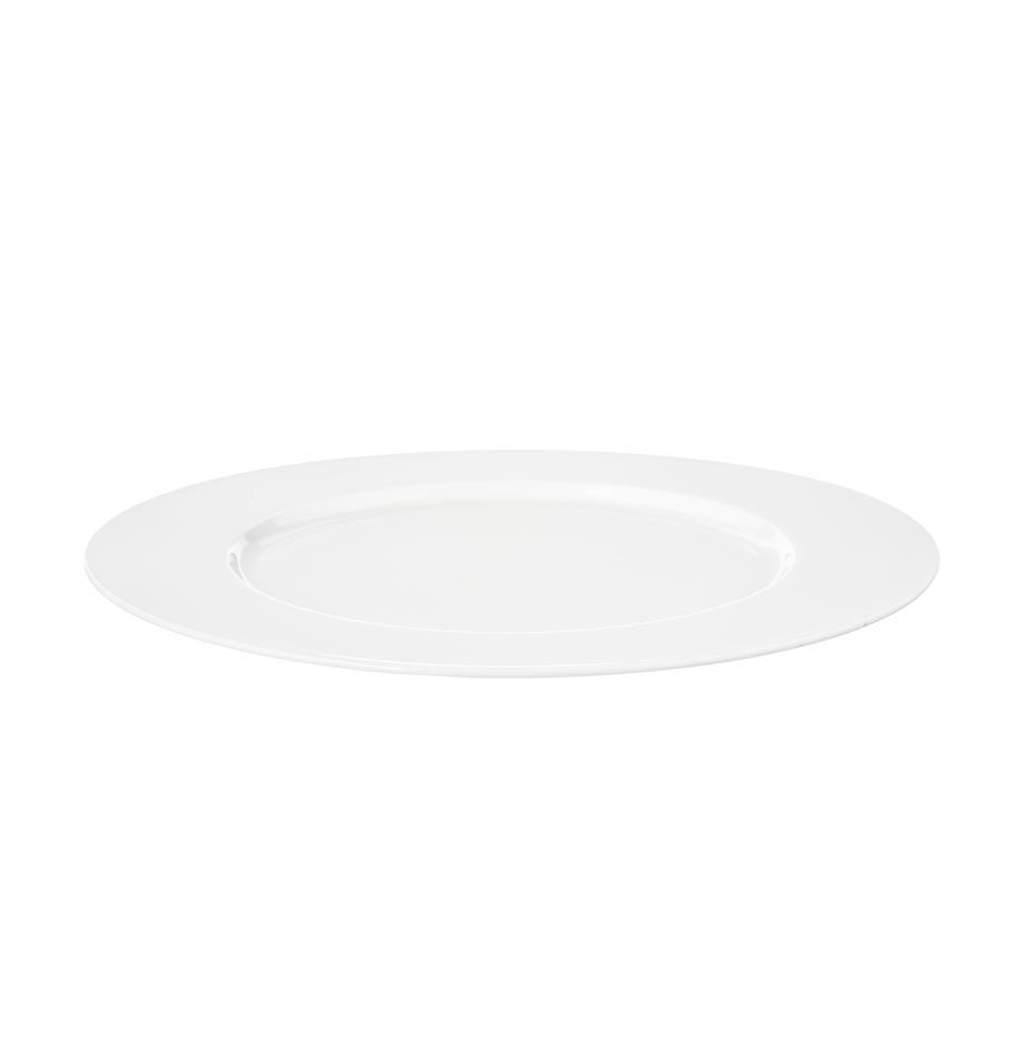 Fine Bone China Platzteller à Table in Weiß, Fine Bone China (Porzellan) Fine Bone China ist ein Weichporzellan, das sich besonders durch seinen strahlenden, durchscheinenden Glanz auszeichnet., Weiß, Ø 32 cm