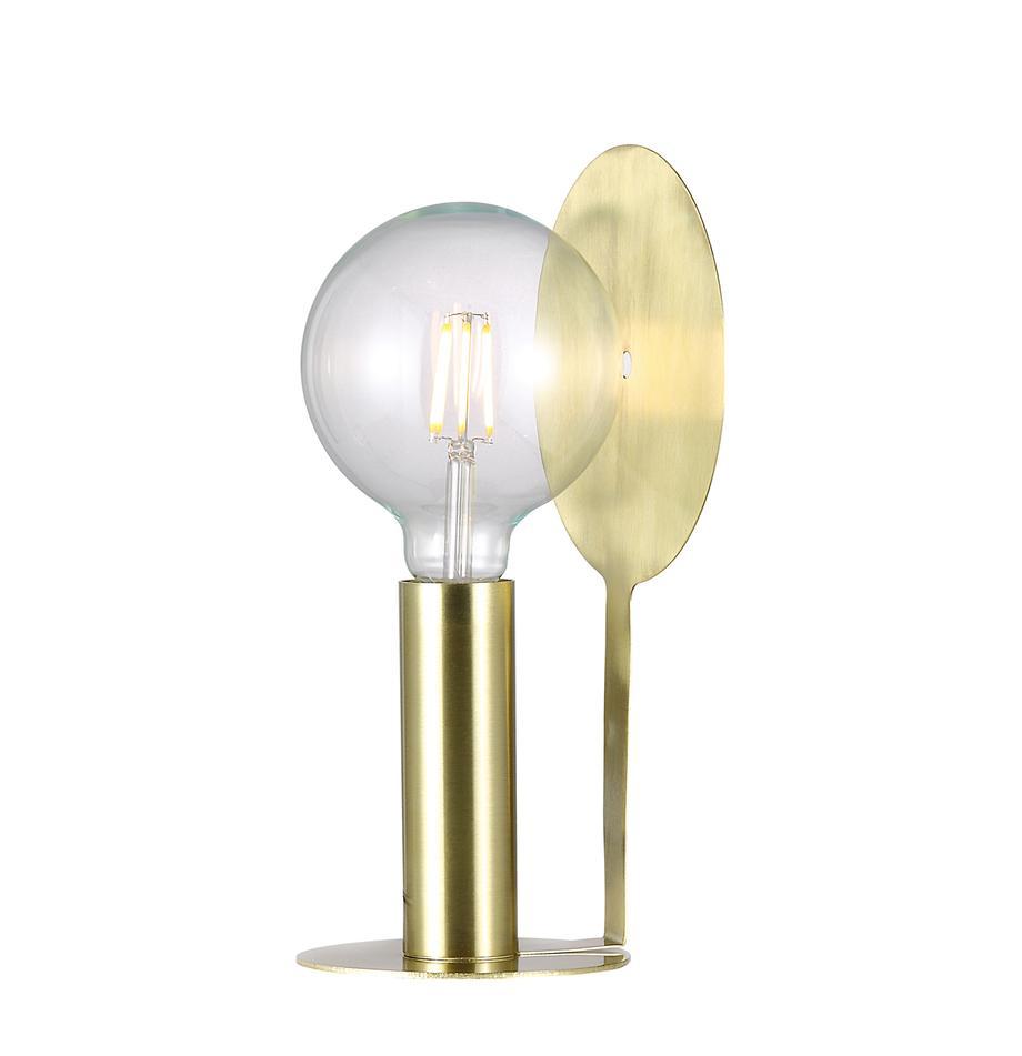 Mała lampa stołowa z reflektorem z mosiądzu Dean, Mosiądz, S 17 x W 32 cm