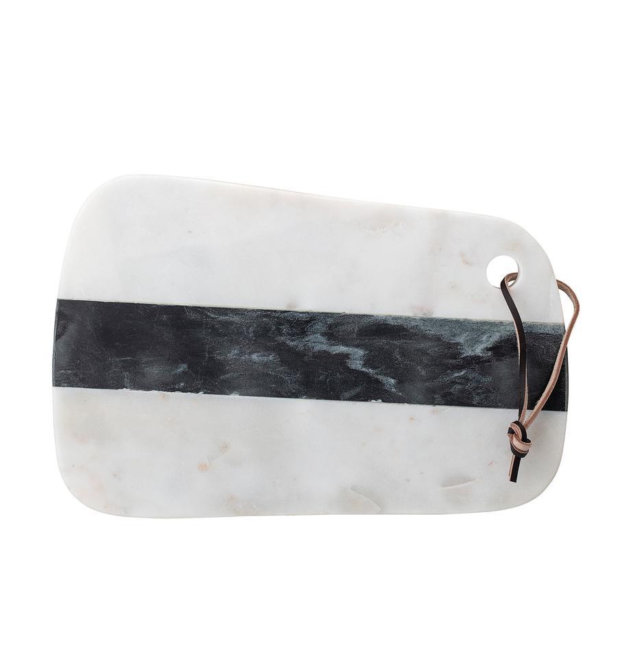 Marmor-Schneidebrett Black and White, B 20 x L 31 cm, Schwarz, Weiss, 20 x 31 cm