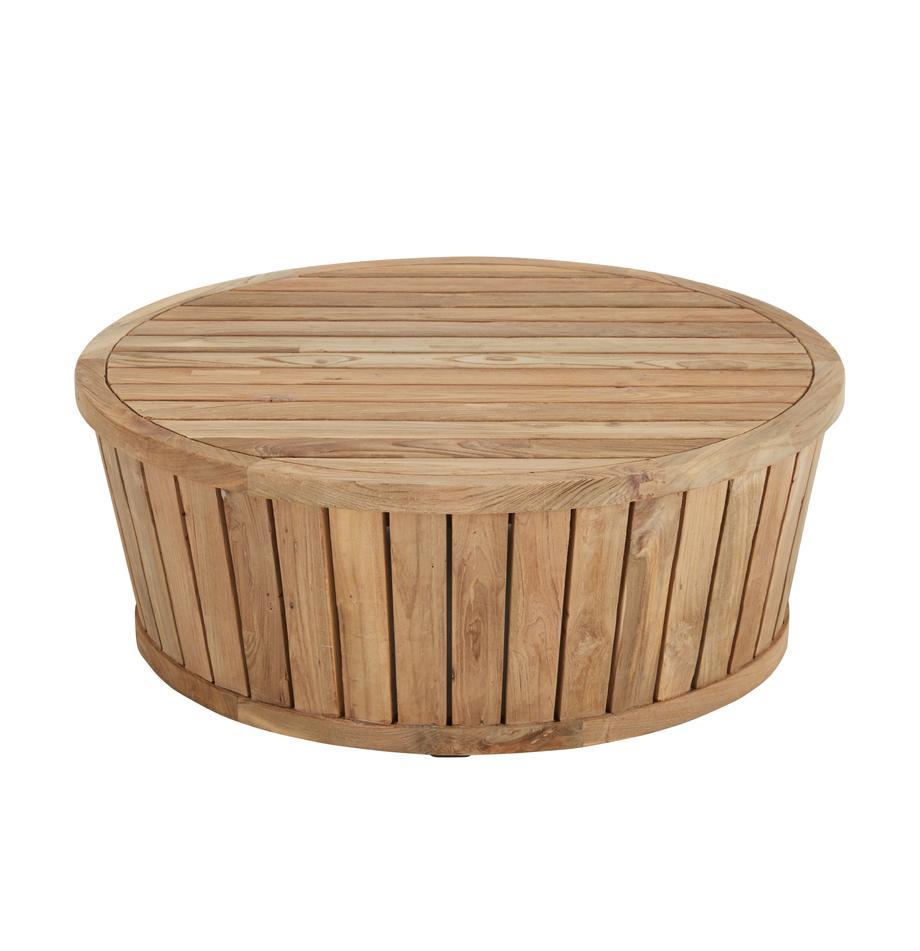 Stolik pomocniczy ogrodowy z drewna tekowego Circus, Drewno tekowe z recyklingu, Drewno tekowe, Ø 80 x W 30 cm