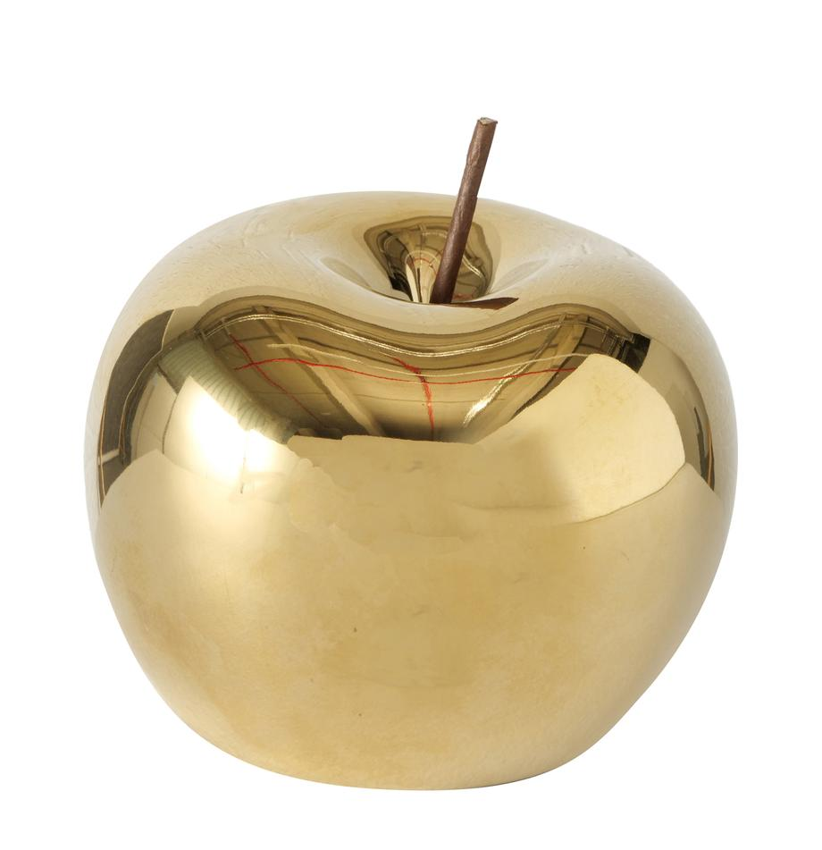 Decoratief object Nesta , Porselein, Goudkleurig, Ø 10 x H 11 cm