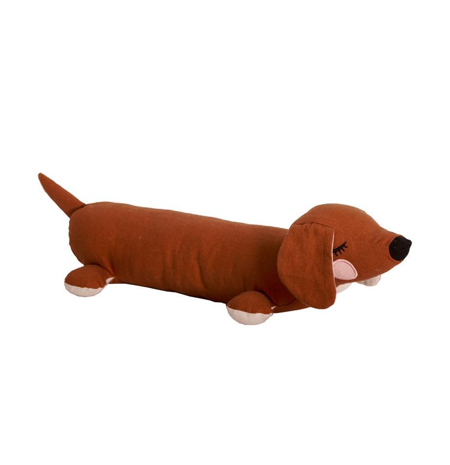 Peluche de algodón ecológico Lazy Puppy, Marrón, An 50 x Al 10 cm