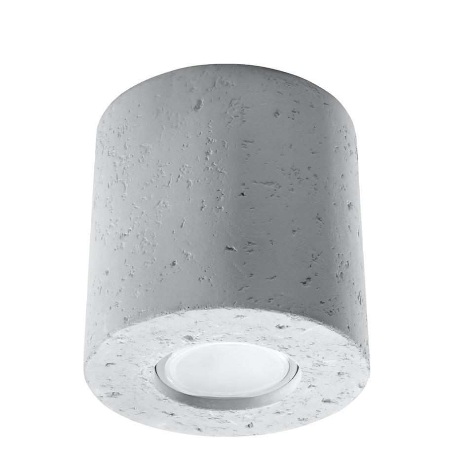 Lampa spot z betonu Roda, Jasny szary, Ø 10 x W 10 cm