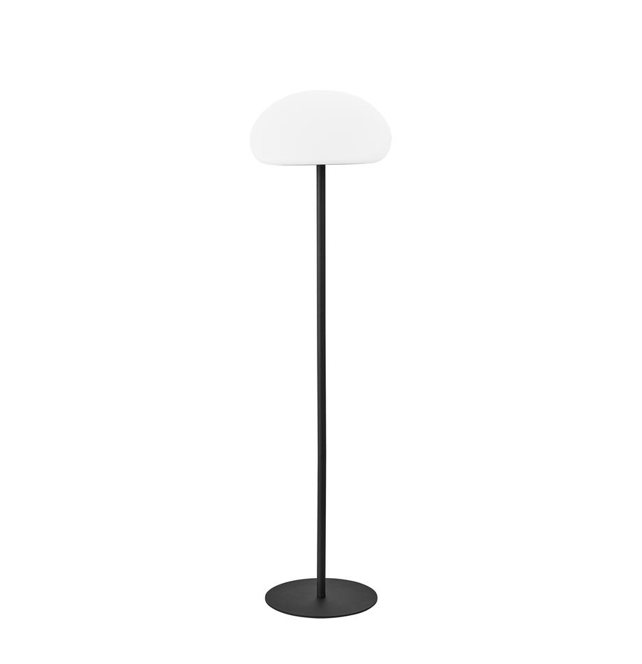 Lampada da terra a LED dimmerabile Sponge, Materiale sintetico (PVC), Bianco, nero, Ø 34 x Alt. 126 cm