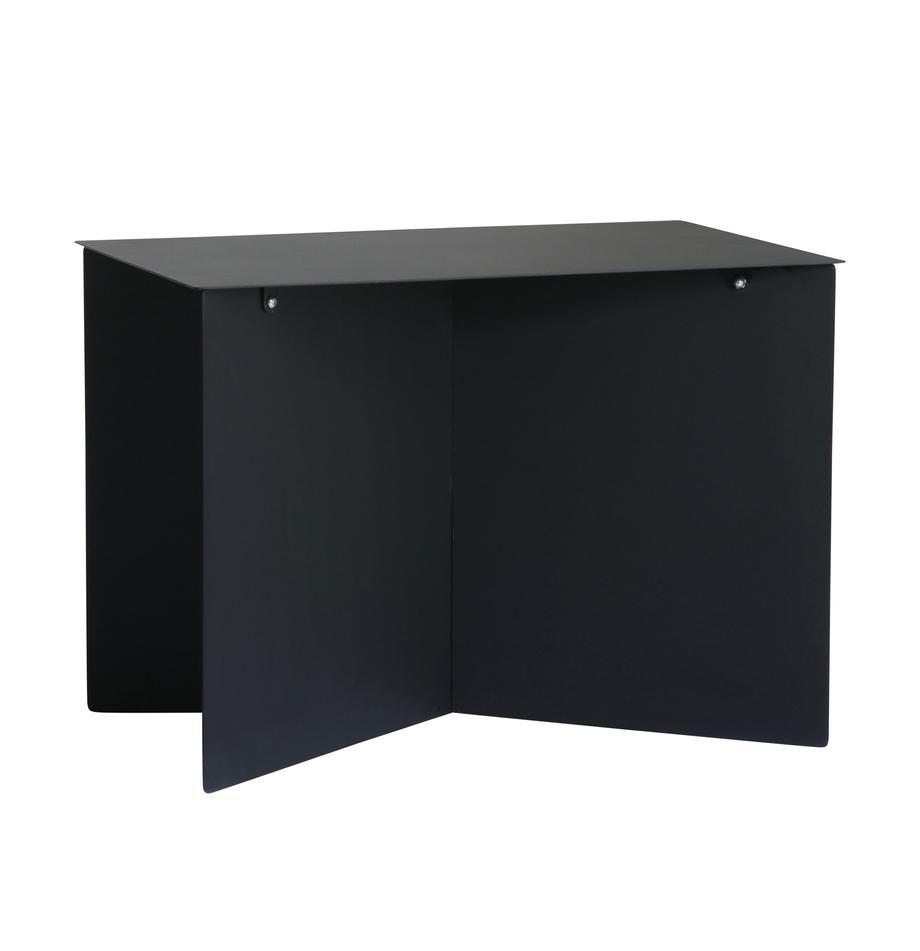 Metalen salontafel Dinga in zwart, Gepoedercoat metaal, Zwart, 55 x 40 cm