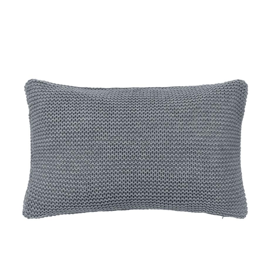 Funda de cojín de punto Adalyn, 100%algodón, Gris claro, An 30 x L 50 cm
