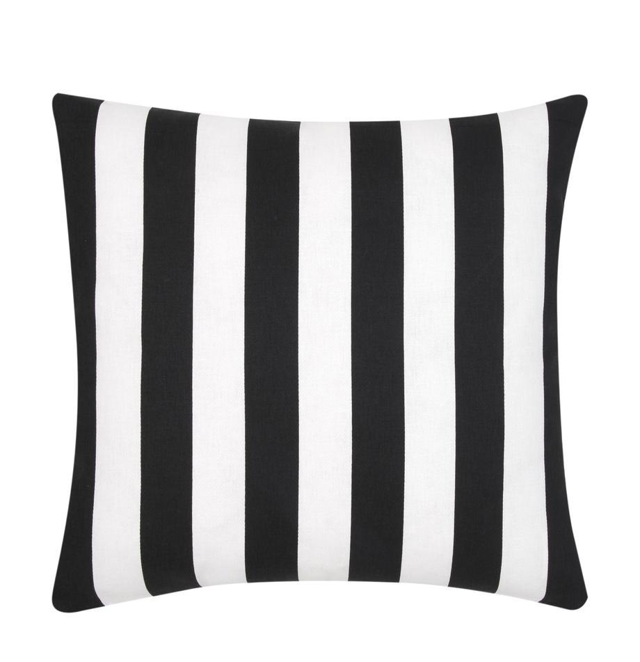 Poszewka na poduszkę Timon, 100% bawełna, Czarny, biały, S 45 x D 45 cm